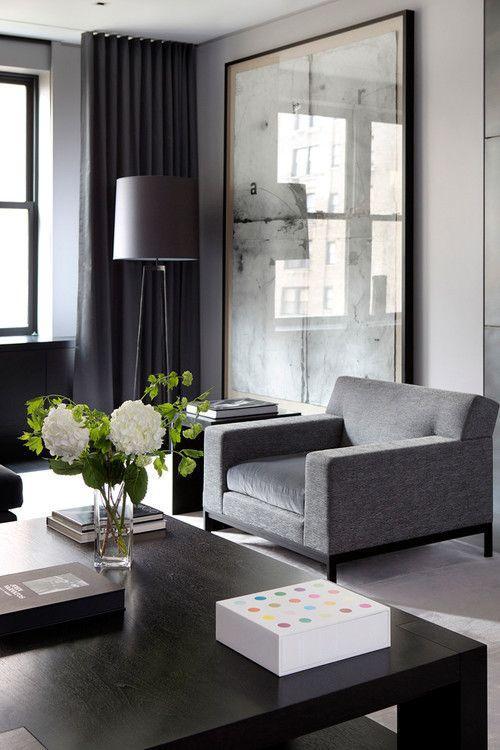 Minimalistické závěsy v obývacím pokoji - 5 variant